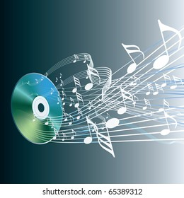 vector illustration of the audio compact disc