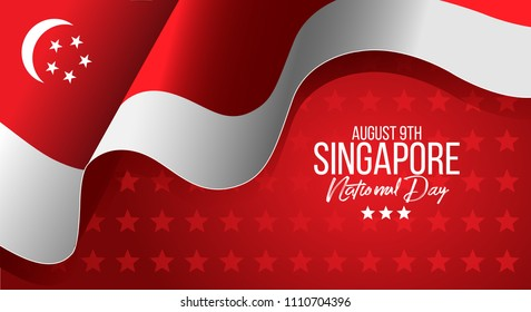 vector illustration August 9th Singapore's independence day. Singapore National Day. celebration republic, graphic for design element
