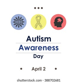 vector illustration / autism  awareness day