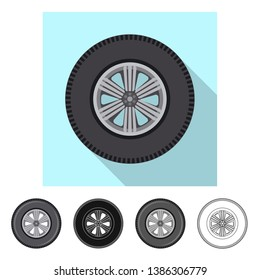 Vector illustration of auto and part sign. Collection of auto and car stock symbol for web.