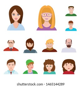 Vector illustration of avatar and people sign. Collection of avatar and fashion stock symbol for web.