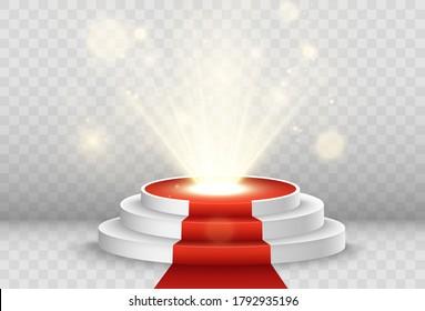 Vector illustration for award winners. Pedestal or platform for honoring prize winners.