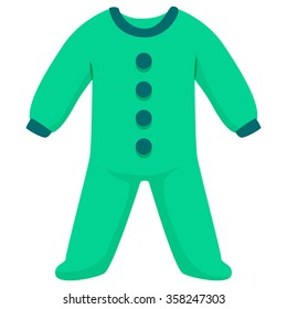 Vector Illustration of Baby Bodysuit Clothes