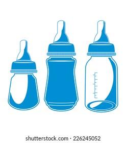 Vector illustration of  baby bottle