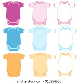 Vector illustration of baby onesie