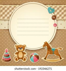 Vector illustration - Baby Shower Invitation (boy), EPS 10