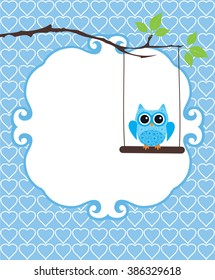 vector illustration of baby shower or invitation card