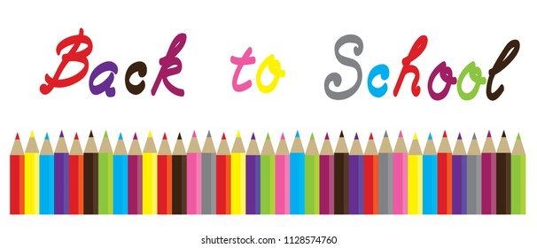 vector illustration of back to school background with pencils