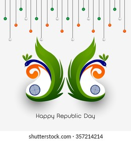 Vector Illustration or background for 26 January, republic day India