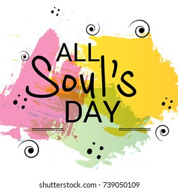 Vector illustration of a Background for All Soul's Day.