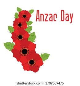 Vector illustration of a Background for Anzac Day