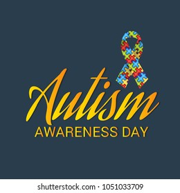 Vector illustration of a Background for Autism Awareness Day. - Shutterstock ID 1051033709