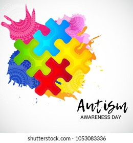 Vector illustration of a Background for Autism Awareness Day.