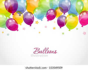 Vector illustration of Background with colorful balloons