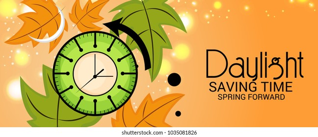 Vector illustration of a Background for Daylight Saving Time.