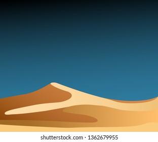 Vector illustration background desert sand dunes