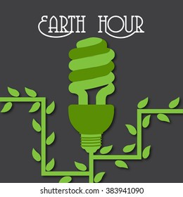Vector Illustration of a background for Earth Hour .