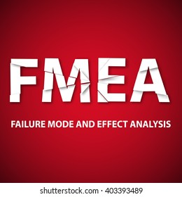 Vector illustration of background Failure mode and effect analysis. FMEA is an analytical technique, which aims to identify potential sites of defects or faults in systems