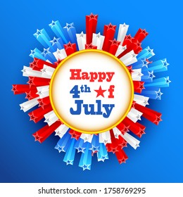 vector illustration of background for Fourth of July American Independence Day