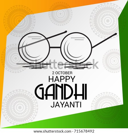 9c78df864e Vector Illustration Background Happy Gandhi Jayanti Stock Vector ...