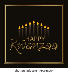 Vector illustration of a background for Happy Kwanzaa.