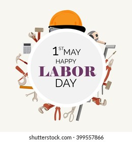 Vector illustration of a background for Happy Labor Day.