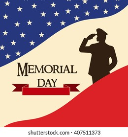 Vector illustration of a background for Happy Memorial Day.