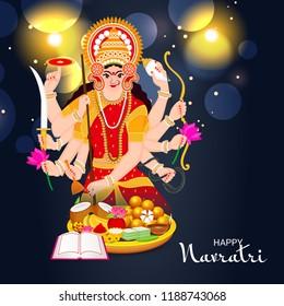 Vector illustration of a Background for Happy Navratri Celebration. - Shutterstock ID 1188743068