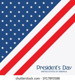 Vector illustration of a background for Happy Presidents Day.