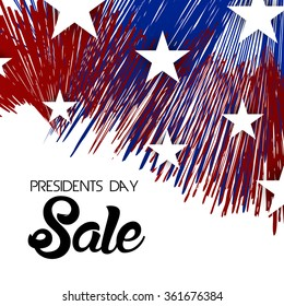 Vector illustration of a background for Happy Presidents Day Sale.
