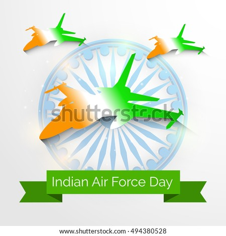 Vector Illustration Background Indian Air Force Stock Vector
