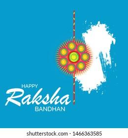 Vector Illustration of a Background for Indian Religious Festival Raksha Bandhan. - Shutterstock ID 1466363585