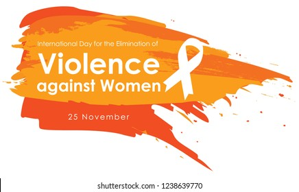 Vector illustration of a Background For International Day for the Elimination of Violence Against Women