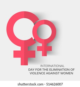 Vector illustration of a Background For International Day for the Elimination of Violence Against Women.