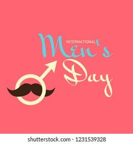 Vector illustration of a Background for International Men's Day.