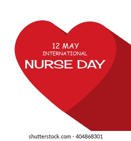 Vector illustration of a background for International Nurse Day.