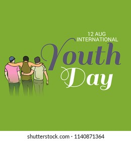 Vector illustration of a Background for International Youth Day.
