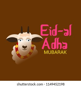 Vector illustration of a Background for Muslim holiday Eid al-Adha.