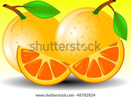 Vector Illustration Background Orange Slice Stock Vector