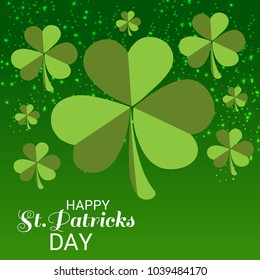 Vector illustration of a Background for St. Patricks Day with Clover.
