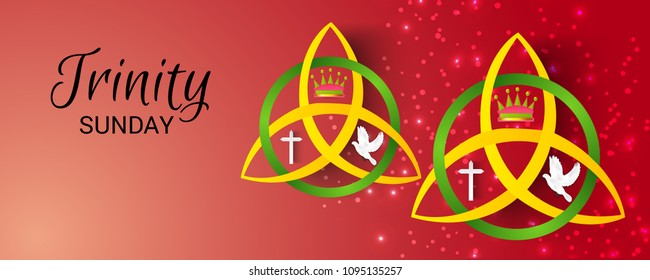Vector illustration of a background for Trinity Sunday.