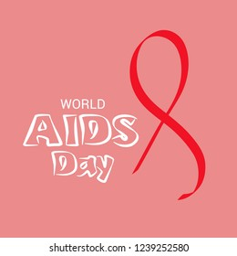Vector illustration of a Background for World Aids Day Awareness Concept.