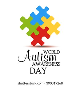 Vector illustration of a background for World Autism Day.
