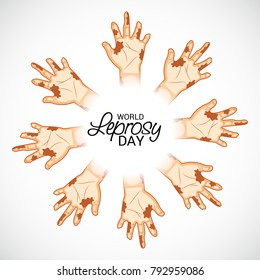 Vector illustration of a Background for World Leprosy day.
