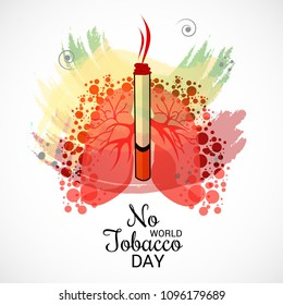 Vector illustration of a background for World No Tobacco Day.