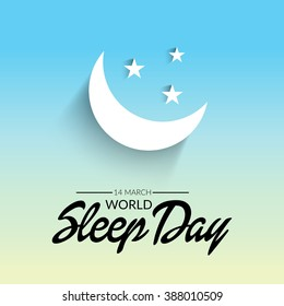 Vector illustration of a background for World Sleep Day.