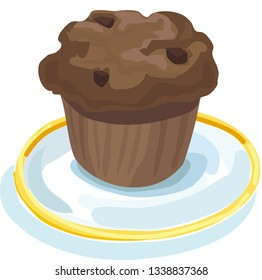 Chocolate Chip Muffins Stock Illustrations Images Vectors Shutterstock