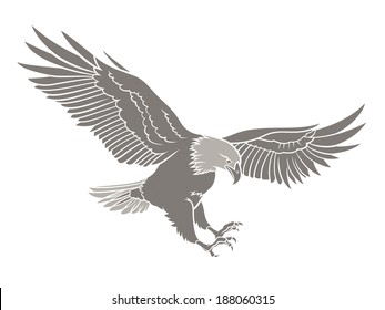 Vector illustration of a Bald Eagle silhouette