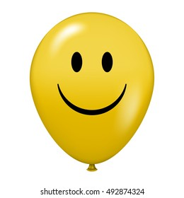 Vector illustration of balloon with happy face