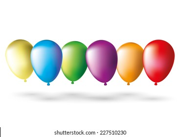 Vector illustration. Balloons.